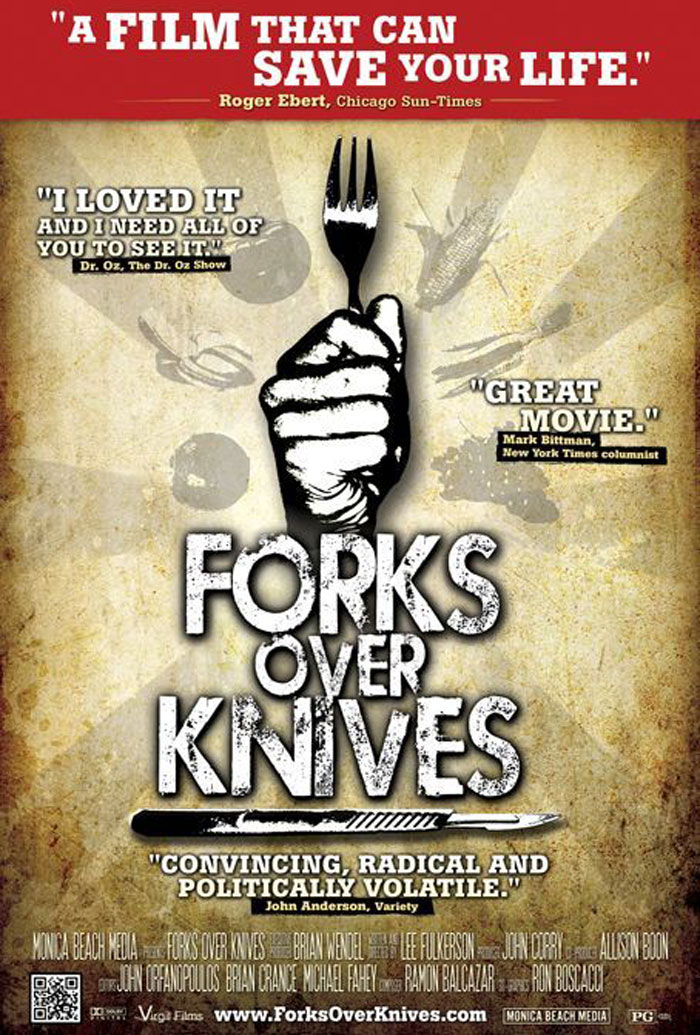 Image result for forks over knives poster